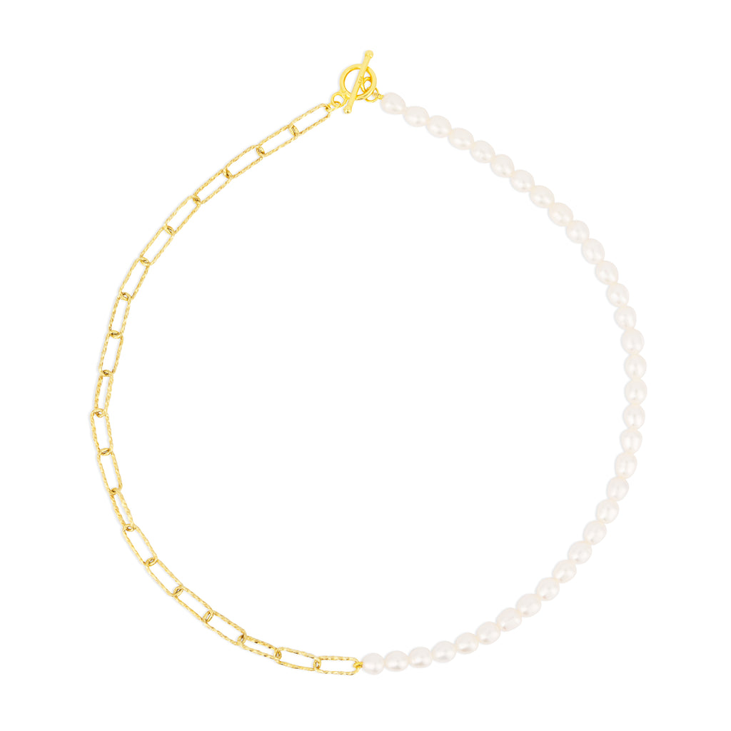 CELESTE CHAIN NECKLACE PEARL
