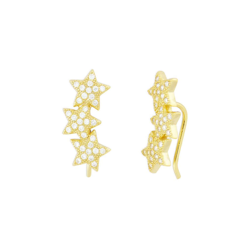 STAR CRAWLER EARRINGS GOLD