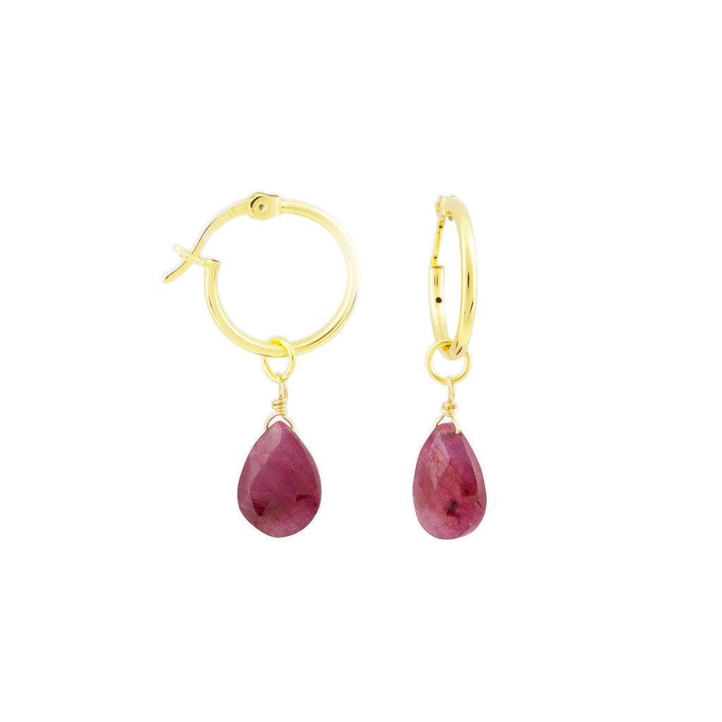 KAIA HOOPS RUBY GOLD