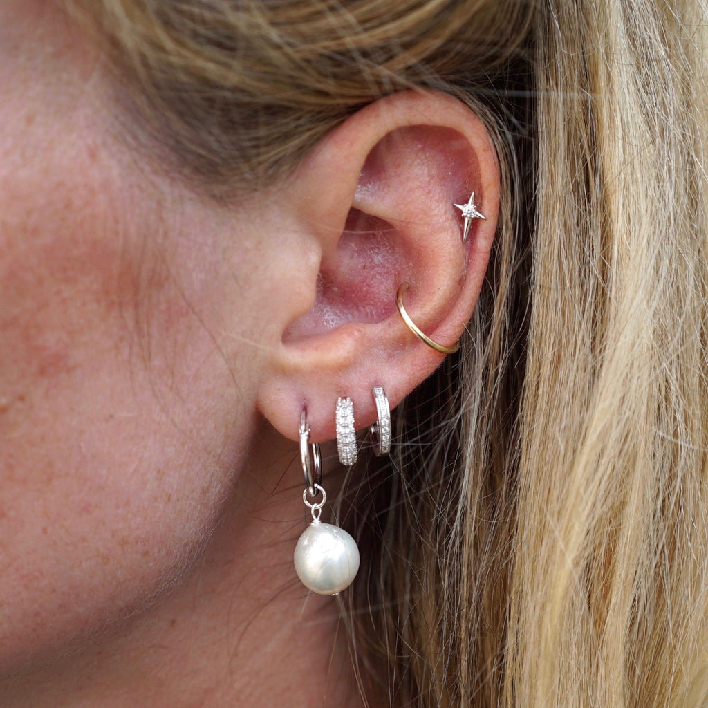 THE GENI EARRING SET SILVER