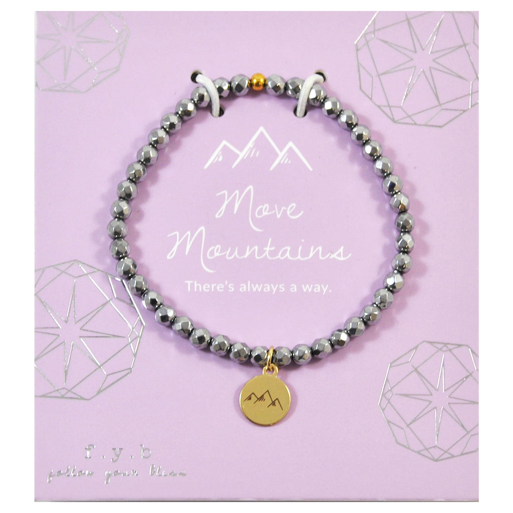 MINI SILVER HEMATITE MOVE MOUNTAINS - eff.Y.bee