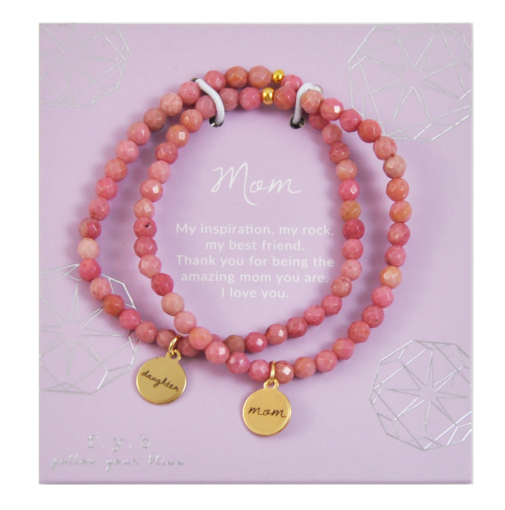 RHODONITE MOM/DAUGHTER SET
