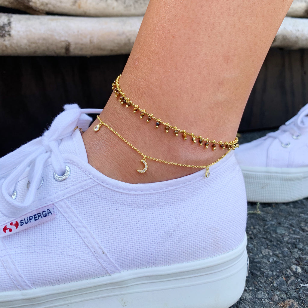 MOON & STAR CHARM ANKLET