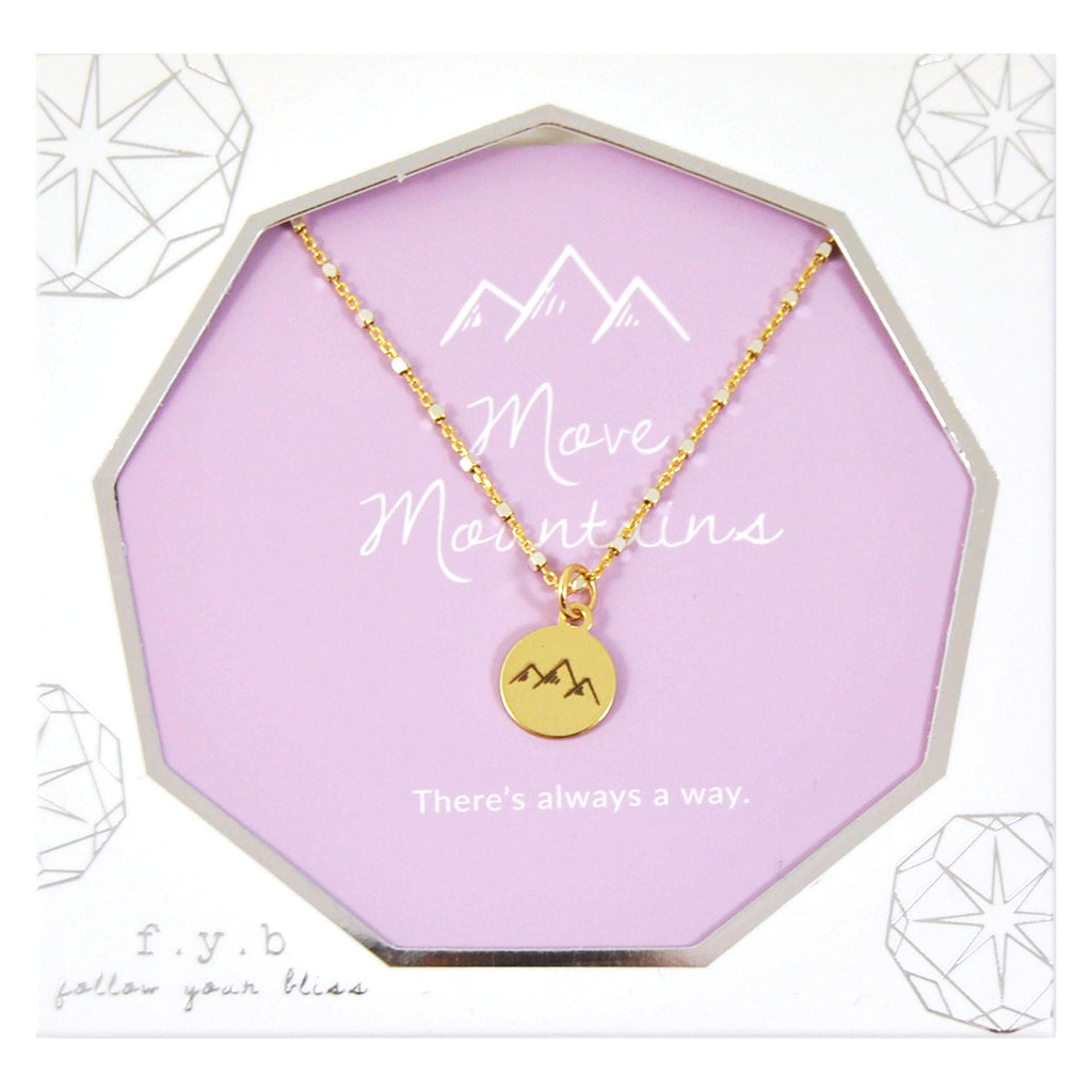 SHIMMER CHARM NECKLACE MOVE MOUNTAINS - eff.Y.bee