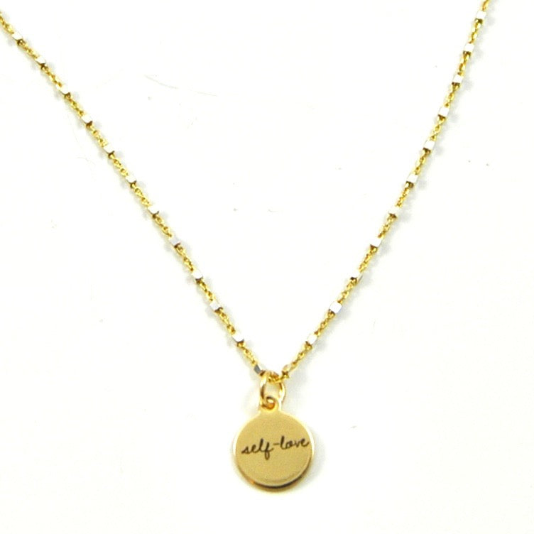 SHIMMER CHARM NECKLACE SELF LOVE - eff.Y.bee