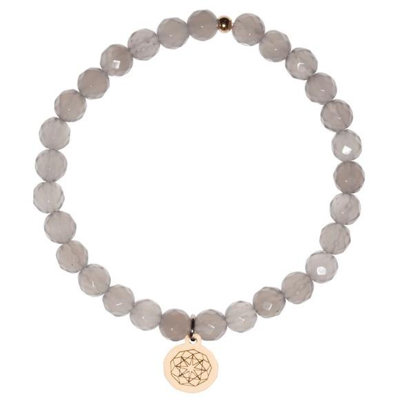 Customize Your Charm - Grey Quartz Healing Bliss Bracelet - eff.Y.bee