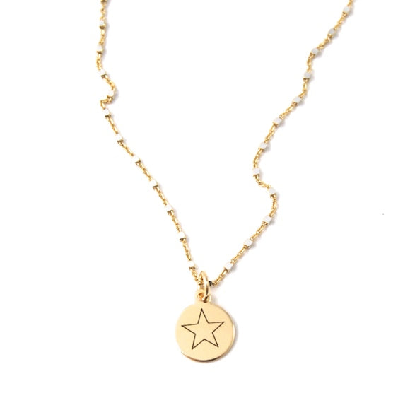 Star Shimmer Charm Necklace