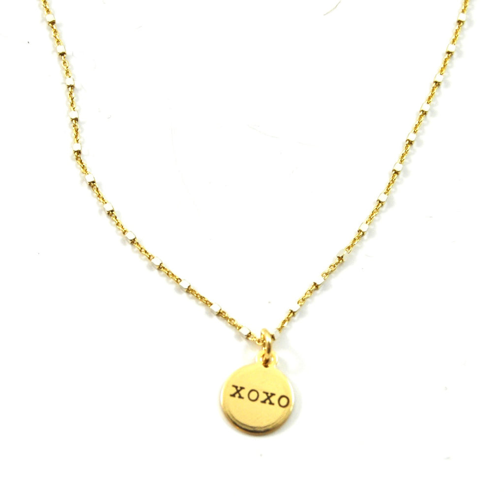 SHIMMER CHARM NECKLACE XOXO - eff.Y.bee