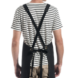 Cargo Crew Scout Denim Bib Apron - Black Denim