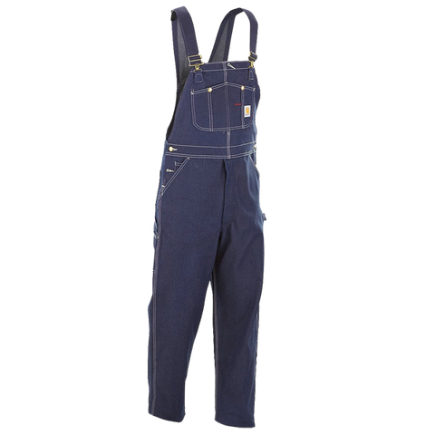 Carhartt Mens Denim Heavyweight Bib Single Knee