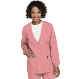 Cherokee Workwear v-neck cardigan scrub jacket