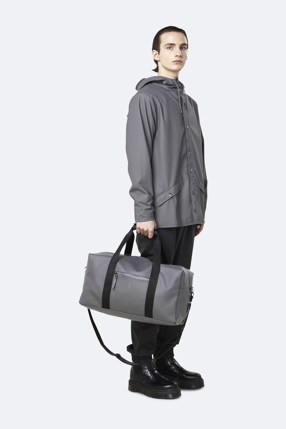 Rains Gym Bag Charcoal
