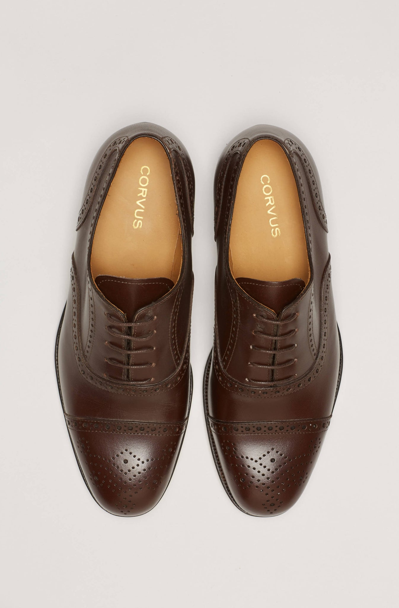 Zapato Semi-Brogue Marrón Oscuro