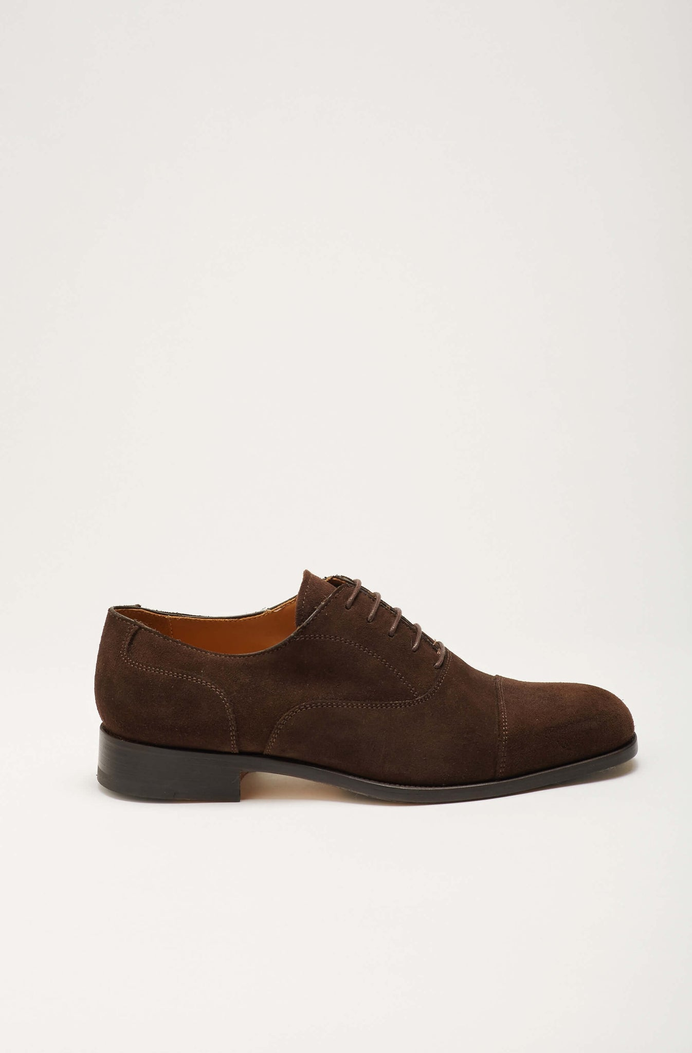 Zapato Oxford Ante Marrón Oscuro