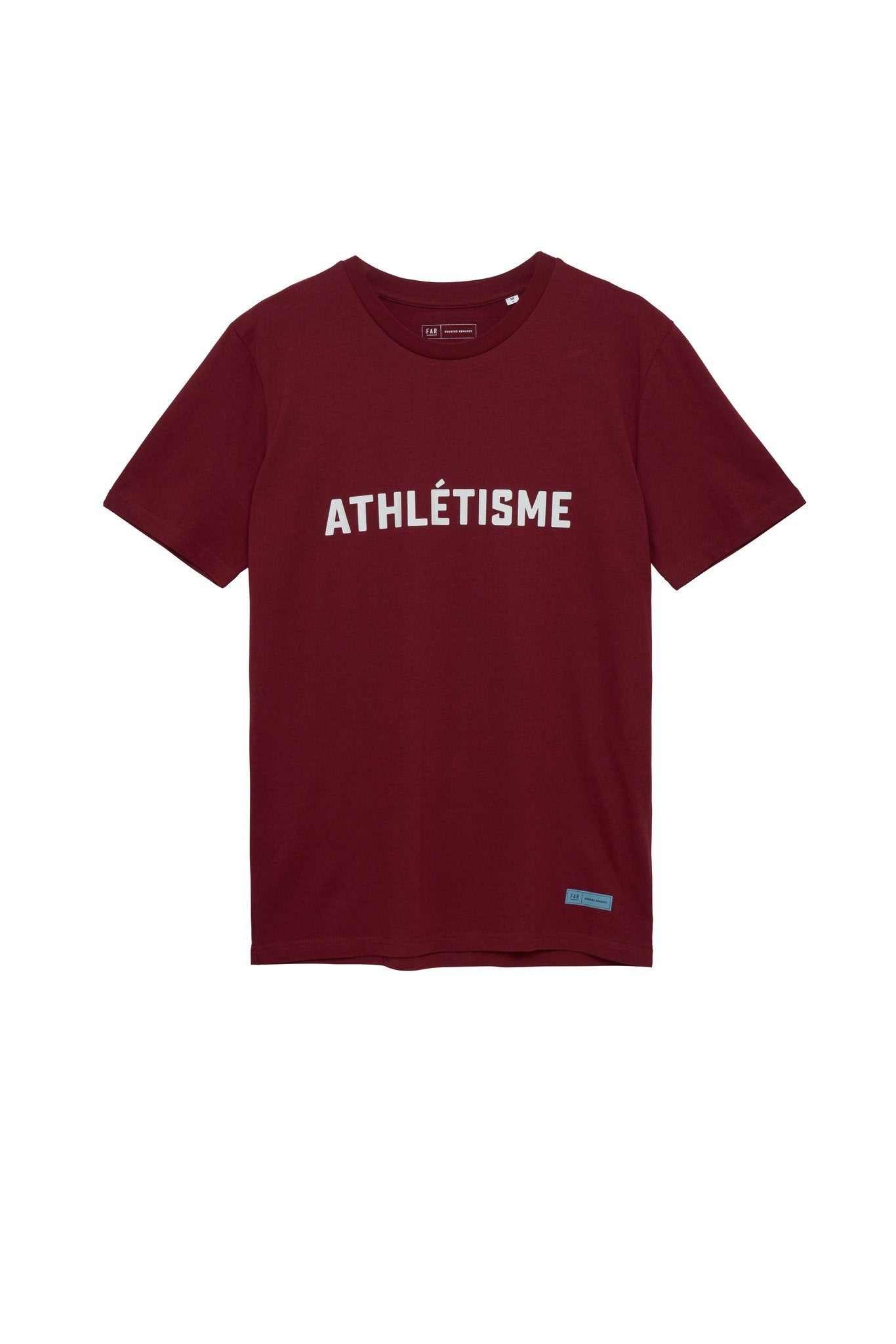 FAR Organic Cotton Athlétisme Tee - Burgundy