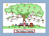 Heart Tree Cartoon Picture Female Personalized 1107