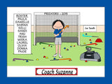 Field Hockey Coach Cartoon Picture Female Personalized 1137