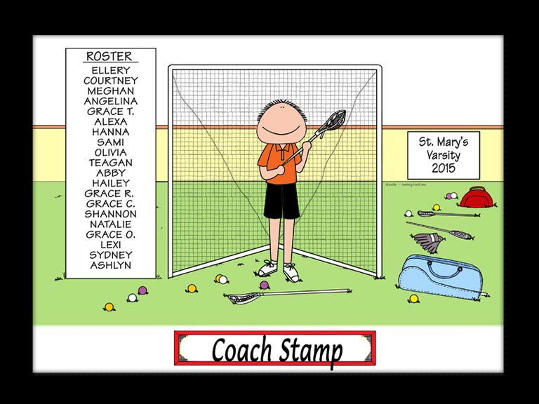 Lacrosse Coach Special Edition Cartoon Picture