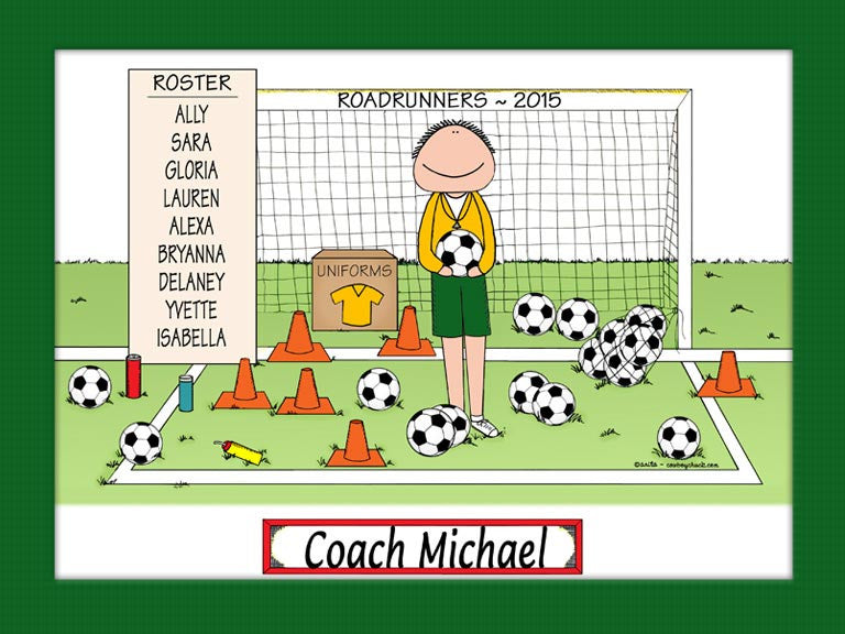 Soccer Coach Special Edition Cartoon Picture