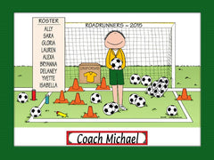 Soccer Coach Cartoon Picture Male Personalized 1146