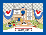 Baseball Coach Cartoon Picture Male Personalized 1148