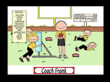 Football Coach Cartoon Picture Male Personalized 1149