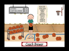 Basketball Coach Cartoon Picture Male Personalized 1184