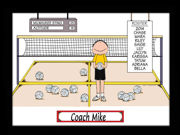 Volleyball Coach Special Edition Cartoon Picture