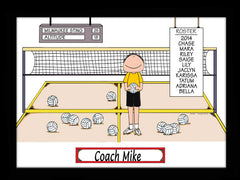 Volleyball Coach Cartoon Picture Male Personalized 1188