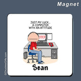 Computer Magnet Male Personalized
