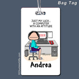 Computer Bag Tag Female Personalized