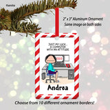 Computer Ornament Female - Personalized