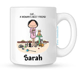 Cat Lover Mug Female Personalized