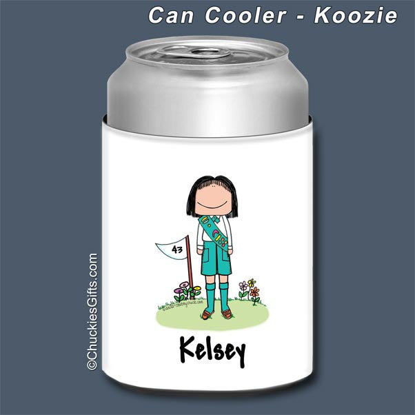Girl Scout Can Cooler Female - Personalized 2005
