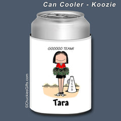 Cheerleader Can Cooler Female Personalized