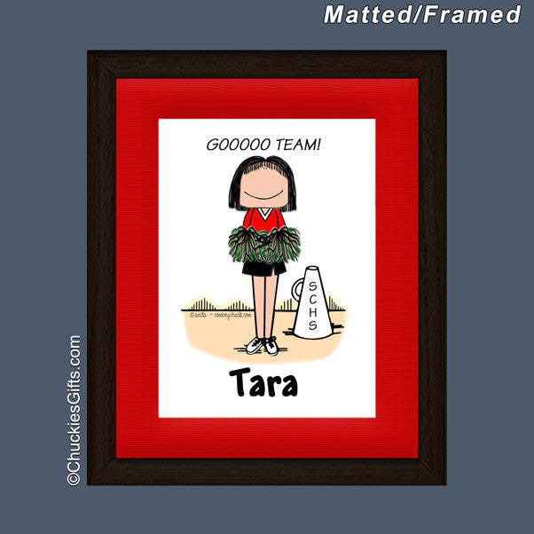 Cheerleader Mat/Frame | Value Collection
