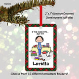 Shoe Lover Ornament Female - Personalized
