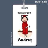 Graduate Bag Tag Female Personalized