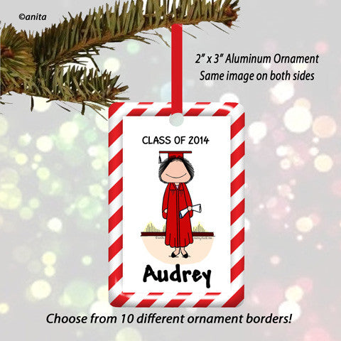 Graduate Ornament Female - Personalized