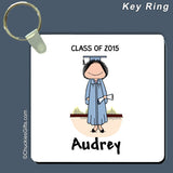 Graduate Key Ring Female Personalized
