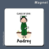 Graduate Magnet Female Personalized