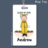 Graduate Bag Tag Male Personalized