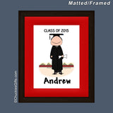 Graduate Mat/Frame Male Personalized