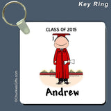 Graduate Key Ring Male Personalized