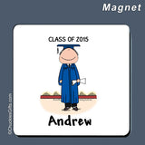 Graduate Magnet Male Personalized