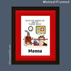 Those Days Office Mat/Frame Female Personalized