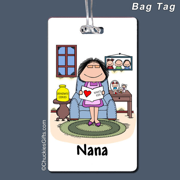Grandmother Bag Tag Female Personalized