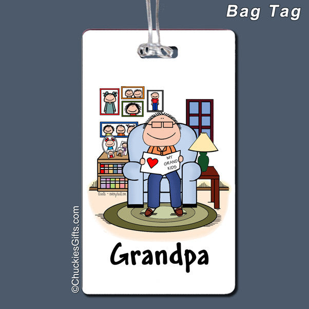 Grandfather Bag Tag Male Personalized