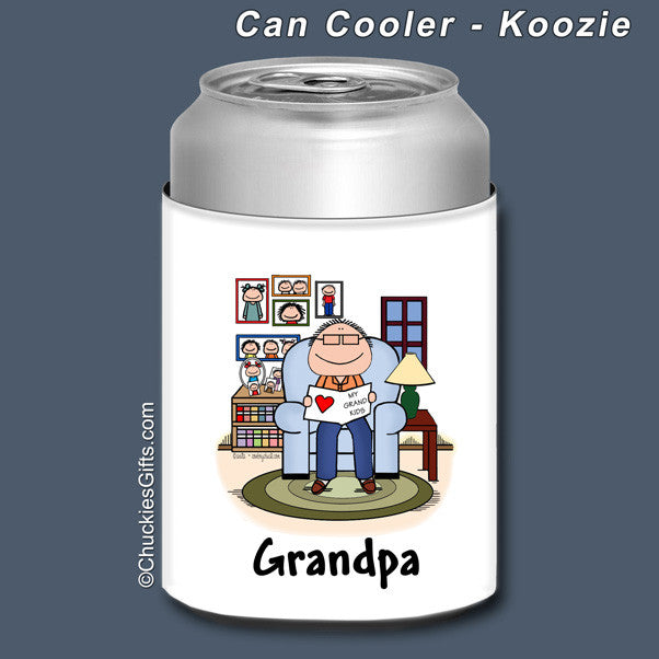 Grandfather Can Cooler Male Personalized