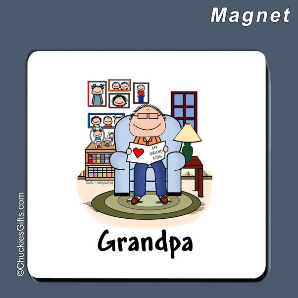 Grandfather Magnet Male Personalized